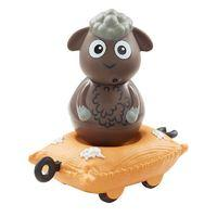Weebledown Farm Toys Wobbly Figure and Mini Vehicle - Woollaby the Sheep with a wool bag