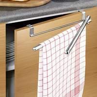 Wenko Over the Door Twin Swing Stainless Steel Towel Rail
