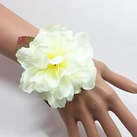 Wedding Flowers Hand-tied Roses Wrist Corsages Bracelet Elastic Satin 0.98(Approx.2.5cm)