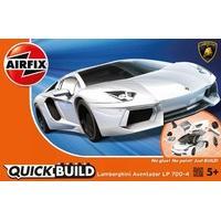 White Airfix Quickbuild Lamborghini Aventador Car Model Kit