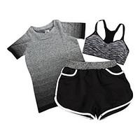 Women\'s Short Sleeve Running Sports Bra Shorts T-shirt Clothing Suits Breathable Spring Summer Fall/Autumn Sports WearExercise Fitness