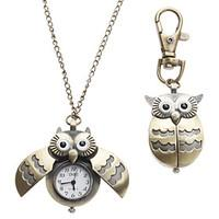 Women\'s Watch Owl Style Keychain Pocket Watch Cool Watches Unique Watches Fashion Watch