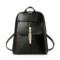 Women Fashion Backpack School Bags Students Backpack Ladies Travel Bags Pu Leath