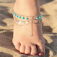 Women\'s Anklet/Bracelet Acrylic Copper Bohemian Alphabet Shape Silver Gold Women\'s Jewelry For Daily Casual 1pc