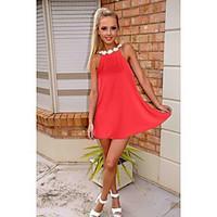 Women\'s Beach Chiffon Dress, Solid Halter Above Knee Sleeveless Cotton Summer Mid Rise Micro-elastic Thin