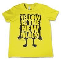 Yellow Is The New Black Spongebob Squarepants Kids T-Shirt